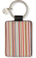 Paul Smith Multistripe Leather Key Ring - Lyst