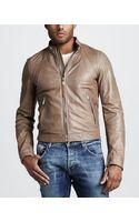 Just Cavalli Leather Motorcycle Jacket - Lyst