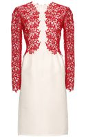 Giambattista Valli Silk Dress with Macramé Sleeves - Lyst