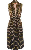 Missoni Zigzag Crochet knit Wool blend Vest - Lyst