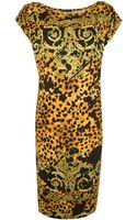 Versace Leopard Print Tunic Dress - Lyst