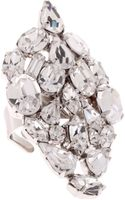 Martine Wester Renaissance Crystal Cocktail Ring - Lyst