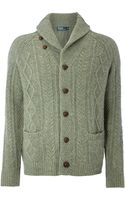 Polo Ralph Lauren Cable Toggle Cardigan - Lyst