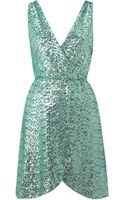 Tfnc Cross Over Sequin Dress - Lyst