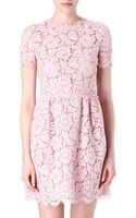 Valentino Lace Babydoll Dress - Lyst