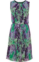 Adrianna Papell Floral Printed Blouson Dress - Lyst