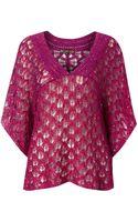 Biba Kimono Sequin Knitted Top - Lyst