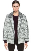 Isabel Marant Ioline Boiled Wool Jacket in Gray - Lyst