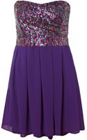 Tfnc Multi Sequin Fit and Flare Dress - Lyst