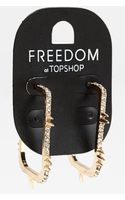 Topshop Spike Square Hoop Earrings - Lyst