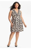 Eliza J Bird Print Sleeveless Dress - Lyst
