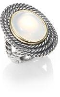 David Yurman Moon Quartz 18k Gold Sterling Silver Ring - Lyst