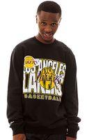 Mitchell & Ness The La Lakers Crewneck Sweatshirt - Lyst