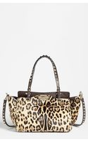 Valentino Rockstud Mini Cavallino Calf Hair Crossbody Bag - Lyst