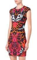 McQ by Alexander McQueen Capsleeved Print Dress - Lyst