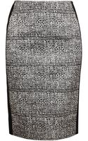 Balenciaga Printed Satin Pencil Skirt - Lyst