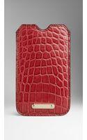 Burberry Alligator Iphone 55s Case - Lyst