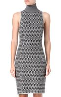 Missoni Rollneck Knitted Dress - Lyst