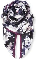 Paul Smith Magnoliaprint Square Silk Scarf - Lyst