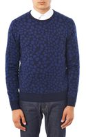 Acne Studios Clissold Animal Print Crew Neck Sweater - Lyst
