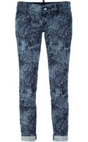 DSquared2 Owl Print Cropped Jeans - Lyst