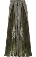 Etro Printed Pleated Chiffon Maxi Skirt - Lyst