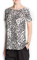 Mango Leopard Print Top - Lyst