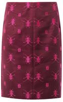 McQ by Alexander McQueen Beetle Embroidered Pencil Skirt - Lyst