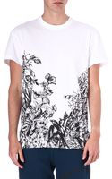 McQ by Alexander McQueen Floral and Swallow Tshirt - Lyst