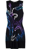 Proenza Schouler Draped Printed Silk Dress - Lyst