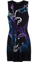 Proenza Schouler Draped Printed Silk Dress - Lyst