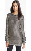Rachel Roy Metallic Sweater - Lyst