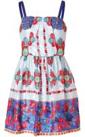 Anna Sui Daisy Chain Print Dress in Cornflower Multi - Lyst