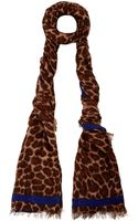 Marc By Marc Jacobs Leonora Leopard Print Scarf - Lyst