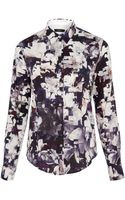 Paul Smith Black Label Navy Magnolia Print Shirt - Lyst