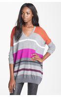Autumn Cashmere Stripe Cashmere Sweater - Lyst