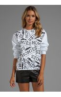 Brian Lichtenberg Graffiti Sweatshirt in White - Lyst