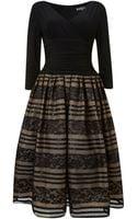 Eliza J 34 Sleeve Lace Skirt Dress - Lyst