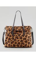 Elizabeth And James Leopardprint Calf Hair Satchel Bag - Lyst