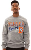 Mitchell & Ness The Denver Broncos Crewneck Sweatshirt - Lyst