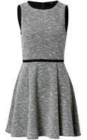 Tibi Dress in Blackwhite Multi - Lyst
