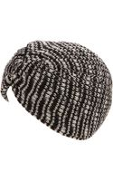 Missoni Black and White Chunky Knit Turban - Lyst