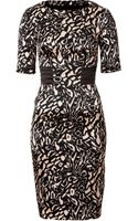 Etro Silk Stretch Patterned Dress - Lyst