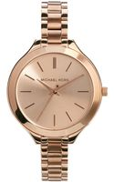Michael Kors Slim Runway Rose Gold Watch - Lyst