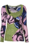 Gianni Versace Vintage Print Skirt Top Set - Lyst