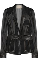 Jason Wu Leather-trimmed Silkorganza Jacket - Lyst