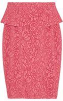 Jason Wu Lace Peplum Skirt - Lyst