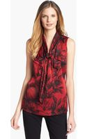 Classiques Entier Ruffled Stretch Silk Blouse - Lyst