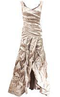 Nicole Miller Metallic Ruch Tank Gown - Lyst