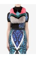 Peter Pilotto Dyed Fox Fur Collar - Lyst